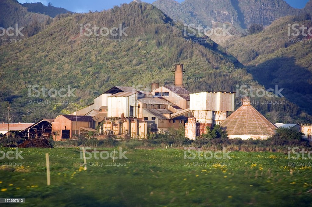 Abandoned sugar mill royalty-free stock photo