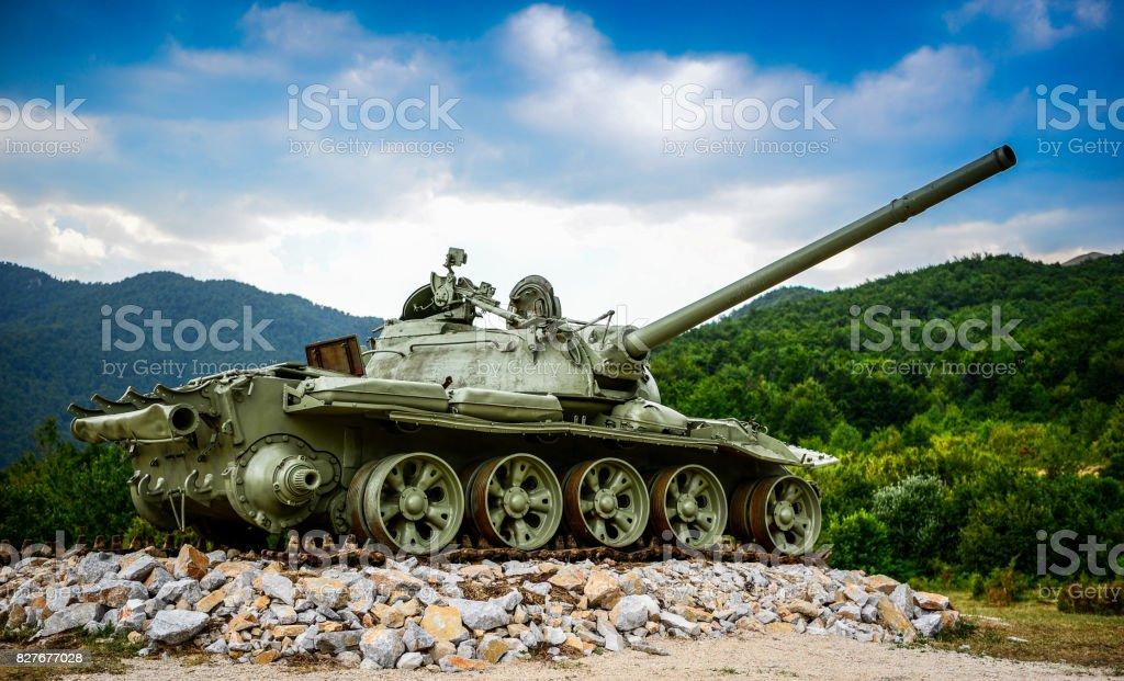 Terk edilmiş Tank stok fotoğrafı