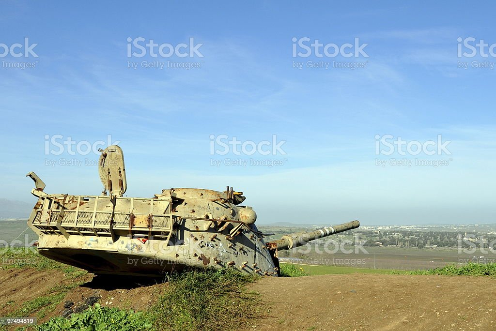 Abandoned tank royalty-free stock photo