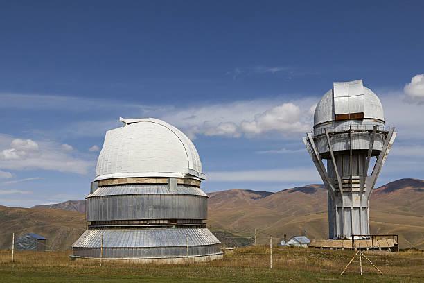 abandoned telescope and observatory in kazakhstan. - hohe warte stock-fotos und bilder