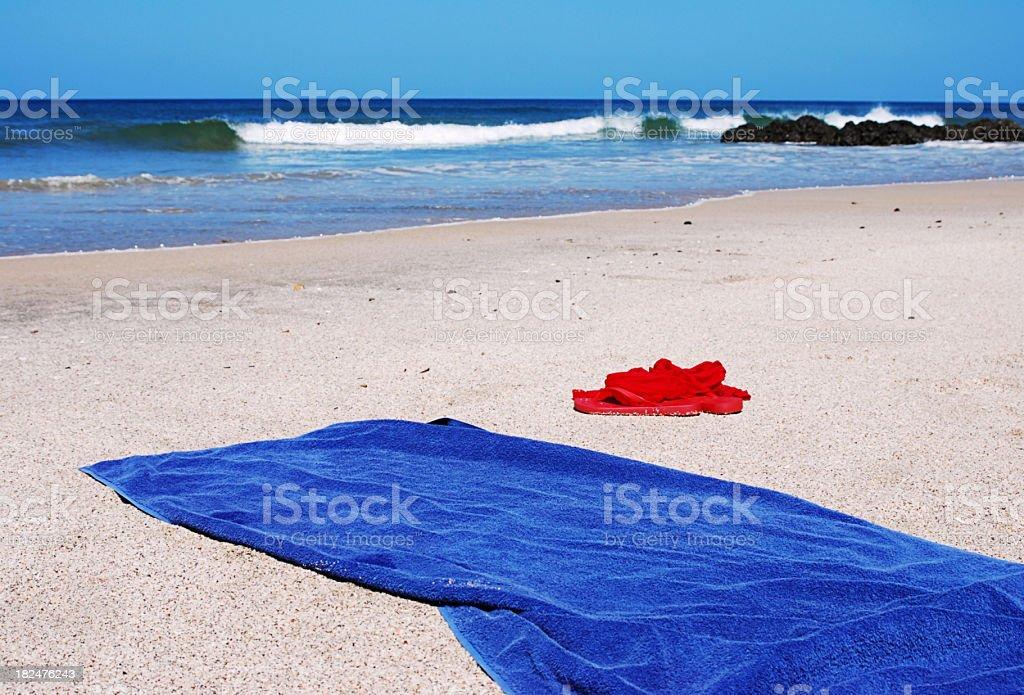 beach towel on beach. Brilliant Towel Abandoned Towels On Sandy Beach Stock Photo Intended Beach Towel On A