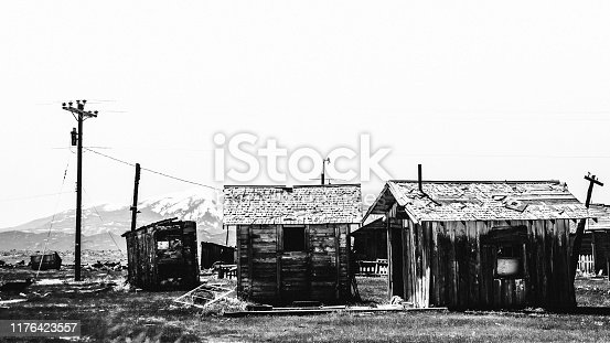 Abandoned town. Cisco, Utah, USA