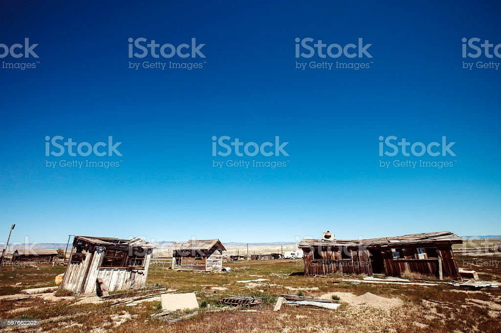 Abandoned town. Cisco, Utah. stock photo
