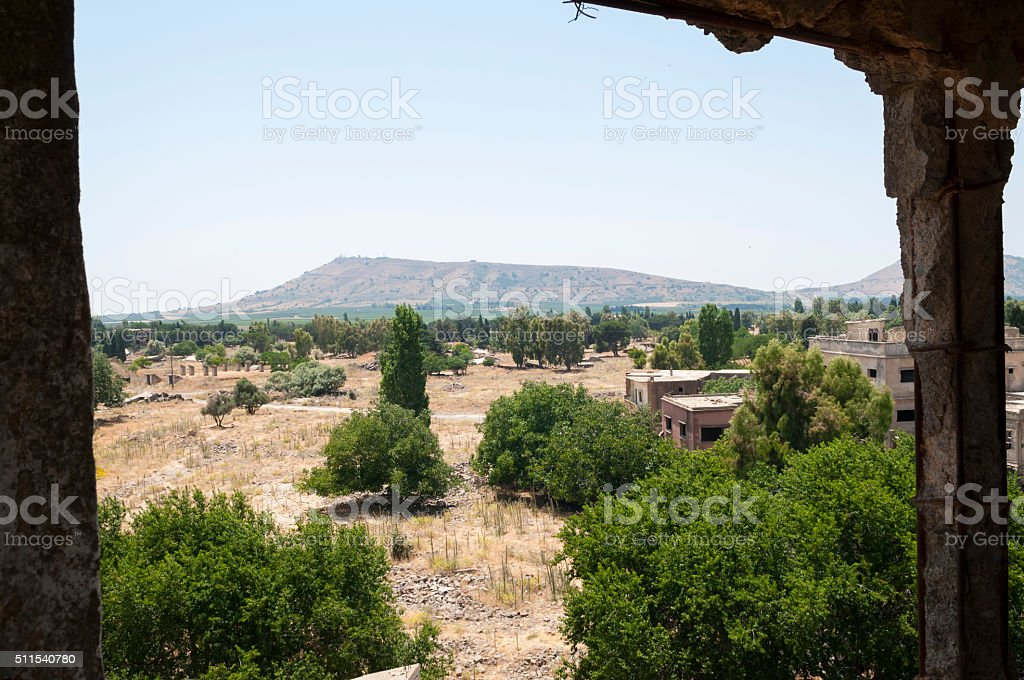 Abandoned town of Quneitra, Syria stock photo