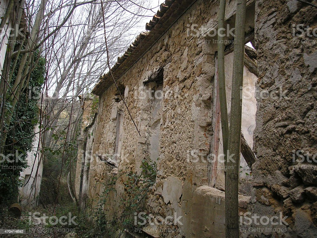 abandoned town, ruins, terror, poltergeist, EVP, abandoned house stock photo