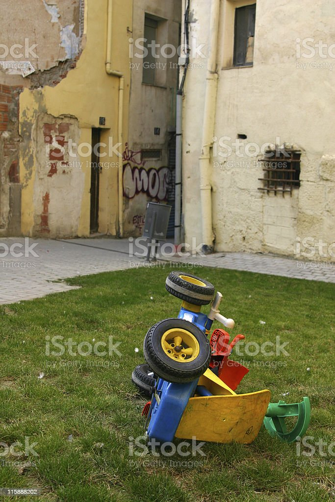 Abandoned toy royalty-free stock photo