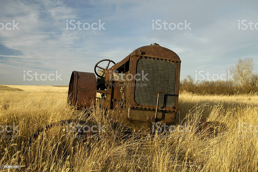abandoned tractor color royalty-free stock photo