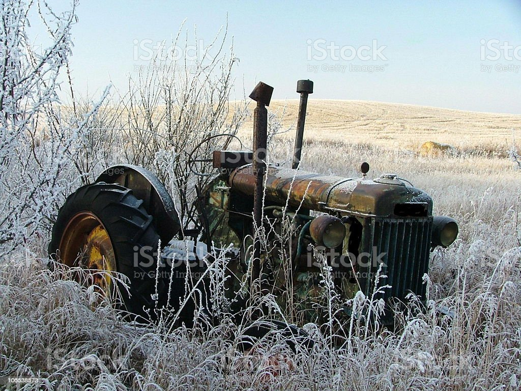 Abandoned Tractor royalty-free stock photo