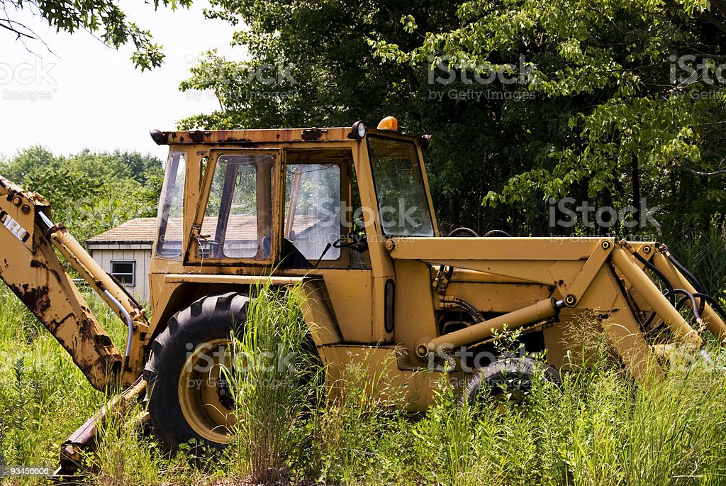 Abandoned Tractor stock photo