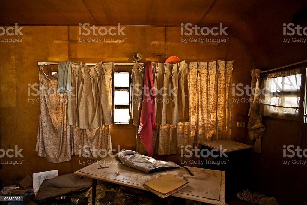 abandoned trailer royalty-free stock photo