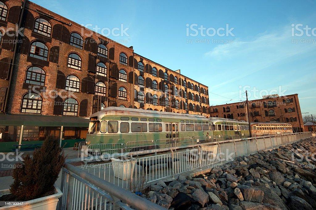 Abandoned Train Cars stock photo