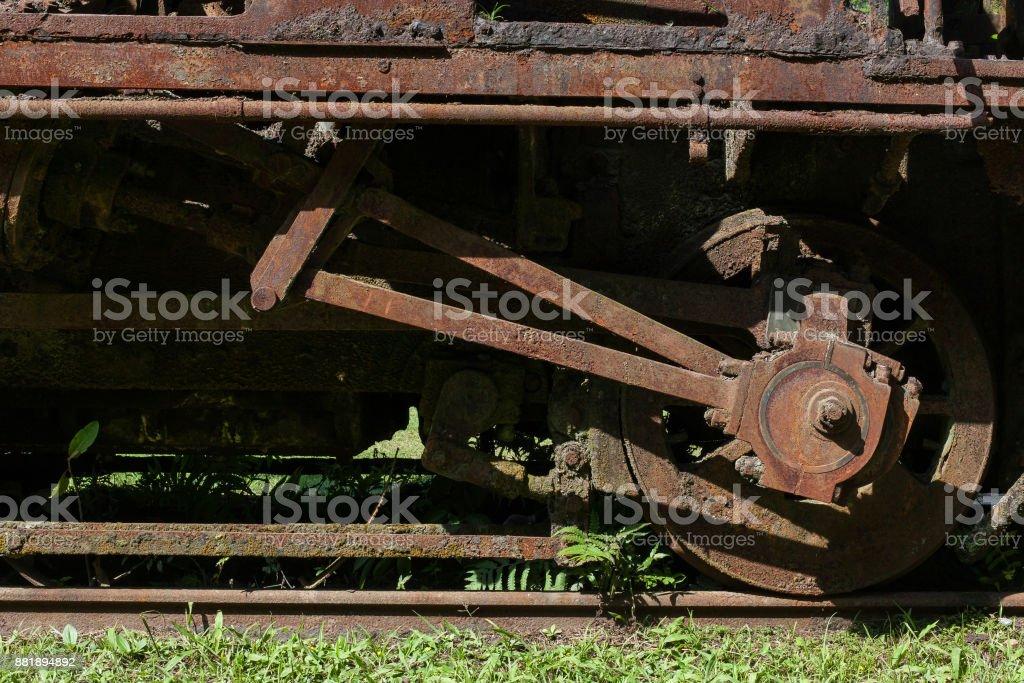 Abandoned train in Paranapiacaba railway station- SP - Brazil stock photo