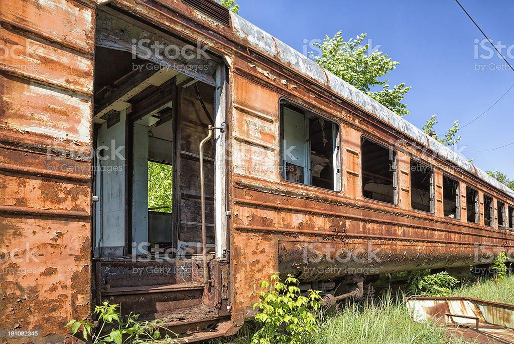 Abandoned Train royalty-free stock photo