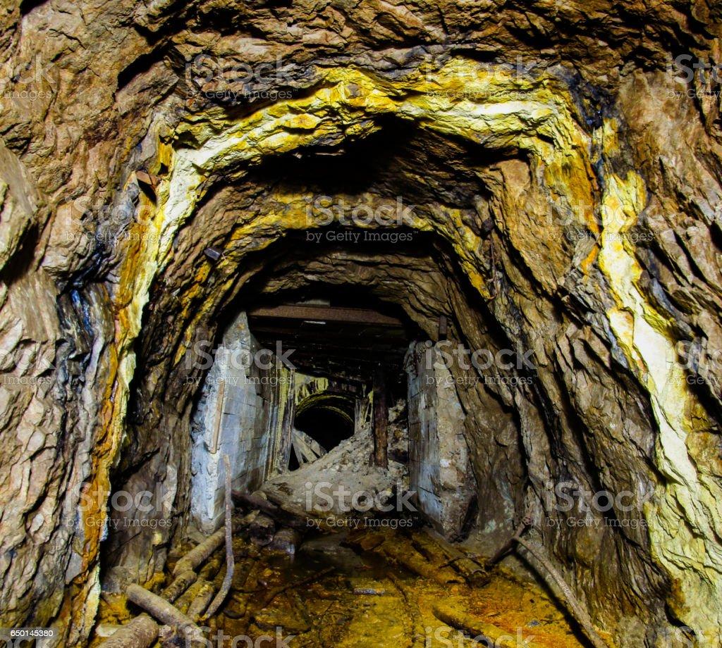 Abandoned uranium mine stock photo