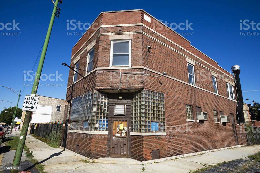 Abandoned Victorian Shop in Pullman, Chicago royalty-free stock photo
