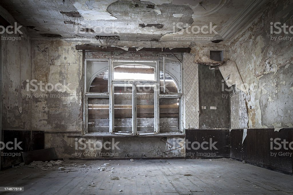 Abandoned villa royalty-free stock photo