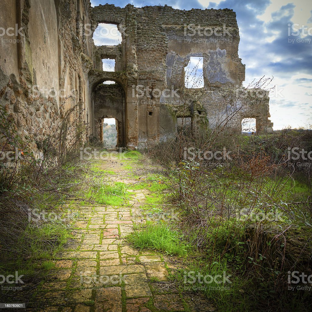 Abandoned village HDR royalty-free stock photo