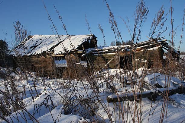 abandoned village house stock photo