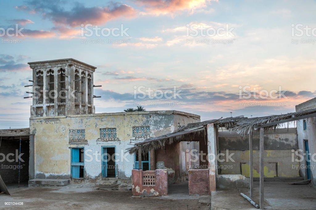 abandoned village in RAK, UAE stock photo