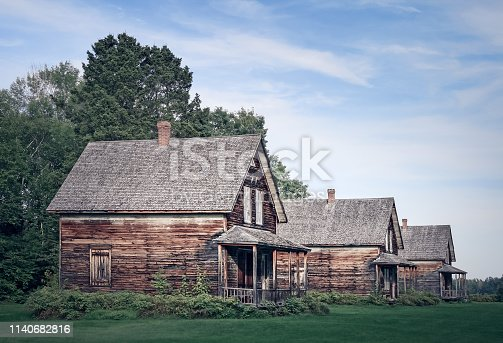 istock Abandoned village with old houses 1140682816