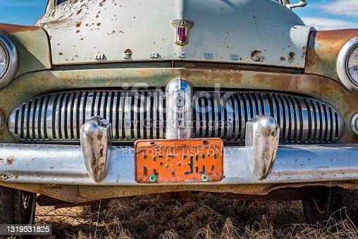 istock Abandoned vintage Mercury Eight car in Saskatchewan,  Canada 1319531825