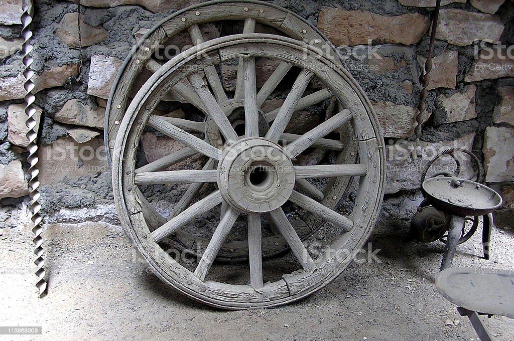 Abandoned Wagon Wheels royalty-free stock photo