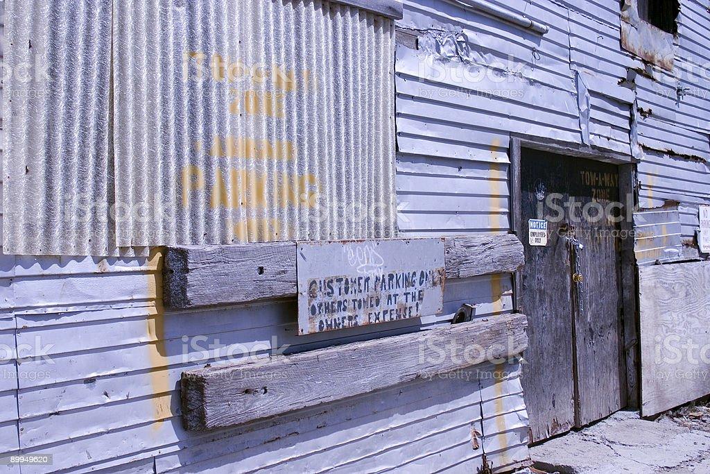 Abandoned Warehouse Entrance stock photo