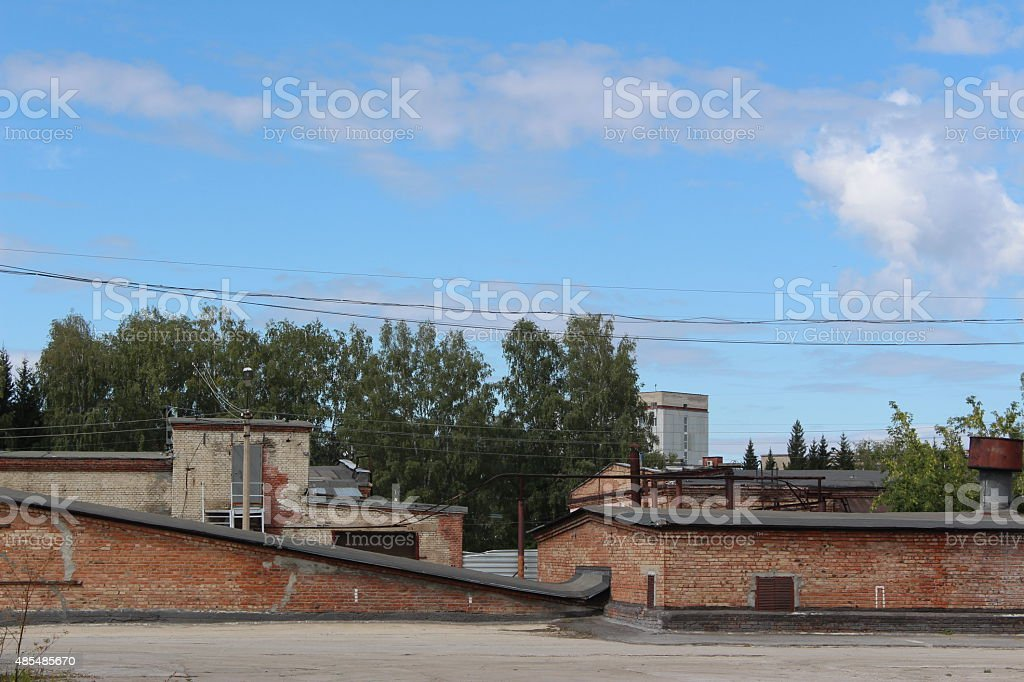 Abandoned Warehouse In The Russian City Stock Photo