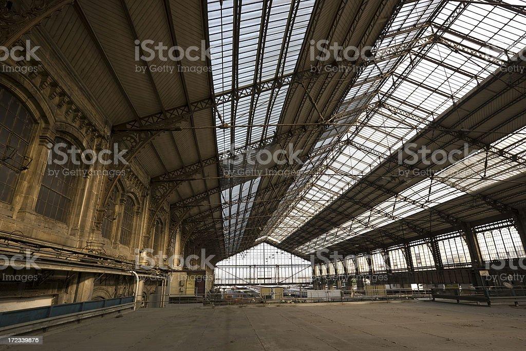 Abandoned Warehouse/Trainstation royalty-free stock photo