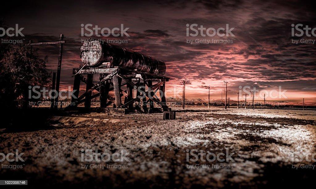Abandoned Water Tower - Salton Sea - fotografia de stock