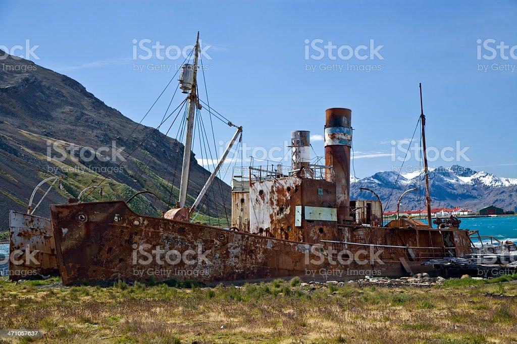 abandoned whaling shipwrecks stock photo