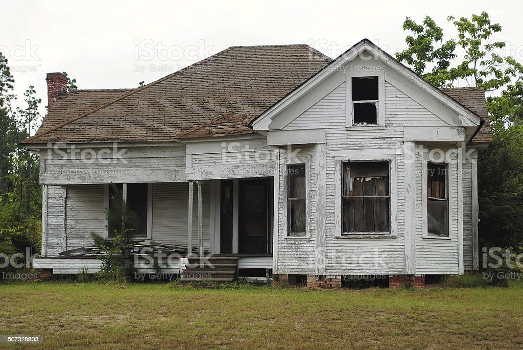 Abandoned White House stock photo