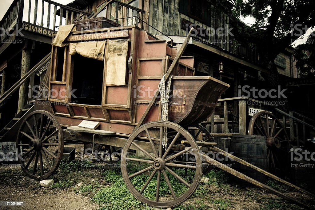 Abandoned Wild West Town royalty-free stock photo