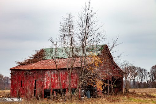 Abandoned Wooden Barn - seems about ready to fall - but it's still standing, maybe for another Winter