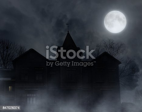 istock Abandoned wooden house. 847026374