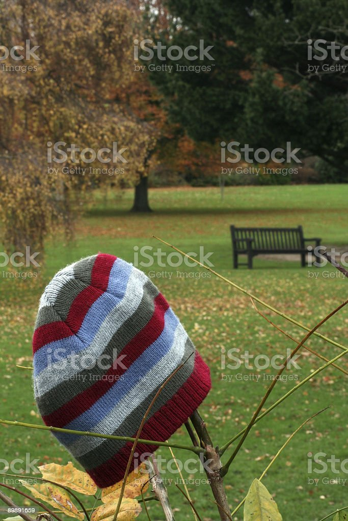 Abandoned woolly hat royalty-free stock photo