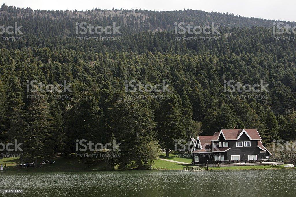 Abant lake stock photo