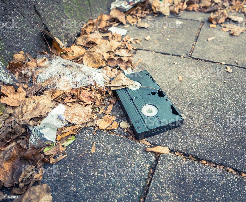Abaondoned VHS Cassette stock photo