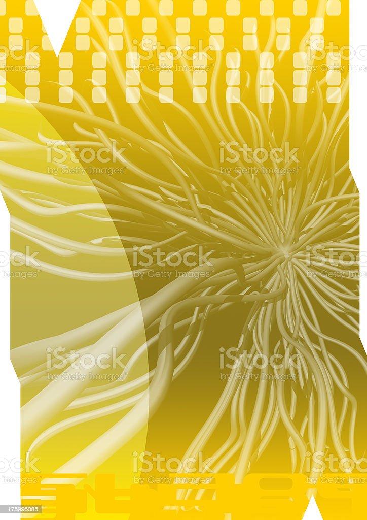 Abaxial yellow 01 stock photo