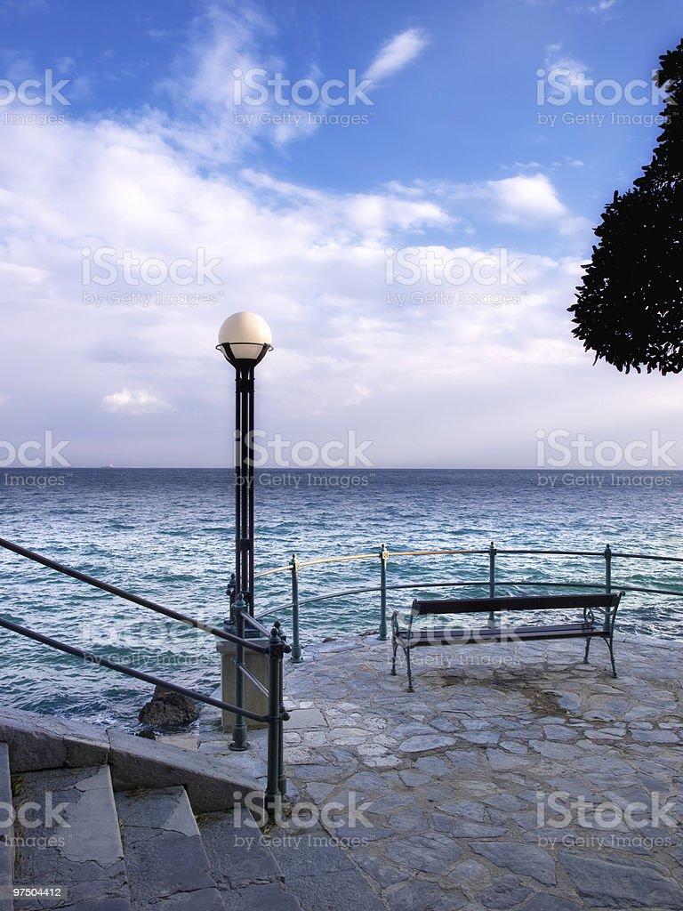 Abazzia view royalty-free stock photo