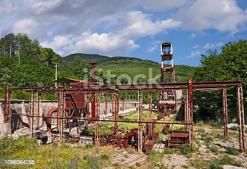 Abbadia San Salvatore, Siena, Tuscany, Italy: the abandoned cinnabar mine from which mercury was extracted until the 1970s