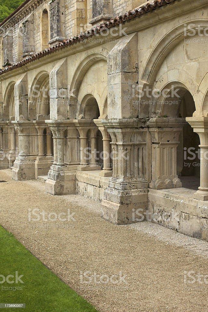Abbaye de Fontenay stock photo