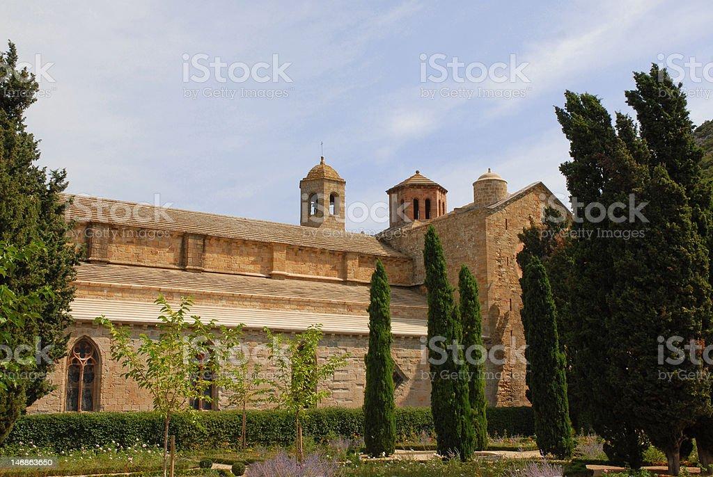 Abbaye de Fontfroide stock photo