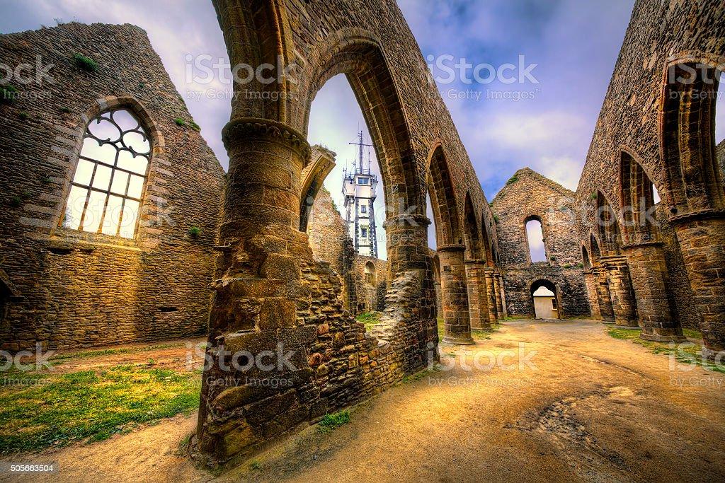 Abbaye Saint-Mathieu de Fine-Terre, Brittany stock photo