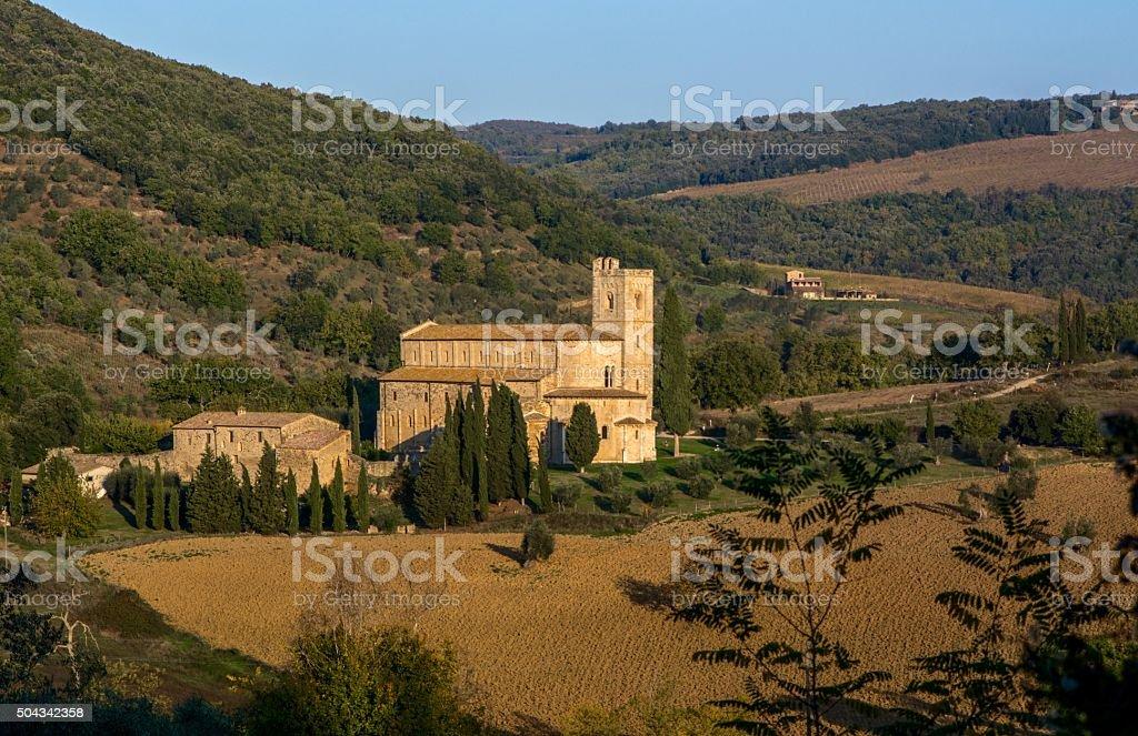 Abbazia di Sant Antimo, Montalcino - Toscana stock photo