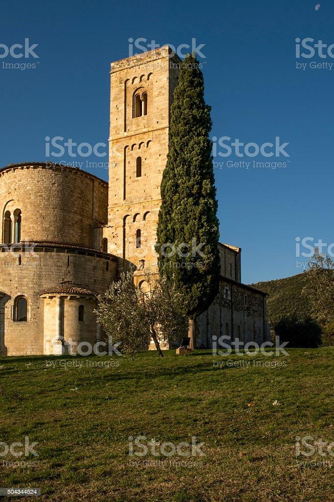 Abbazia di Sant'Antimo, Montalcino - Toscana stock photo