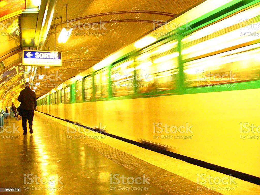 Abbesses metro / subway / underground station in Paris royalty-free stock photo