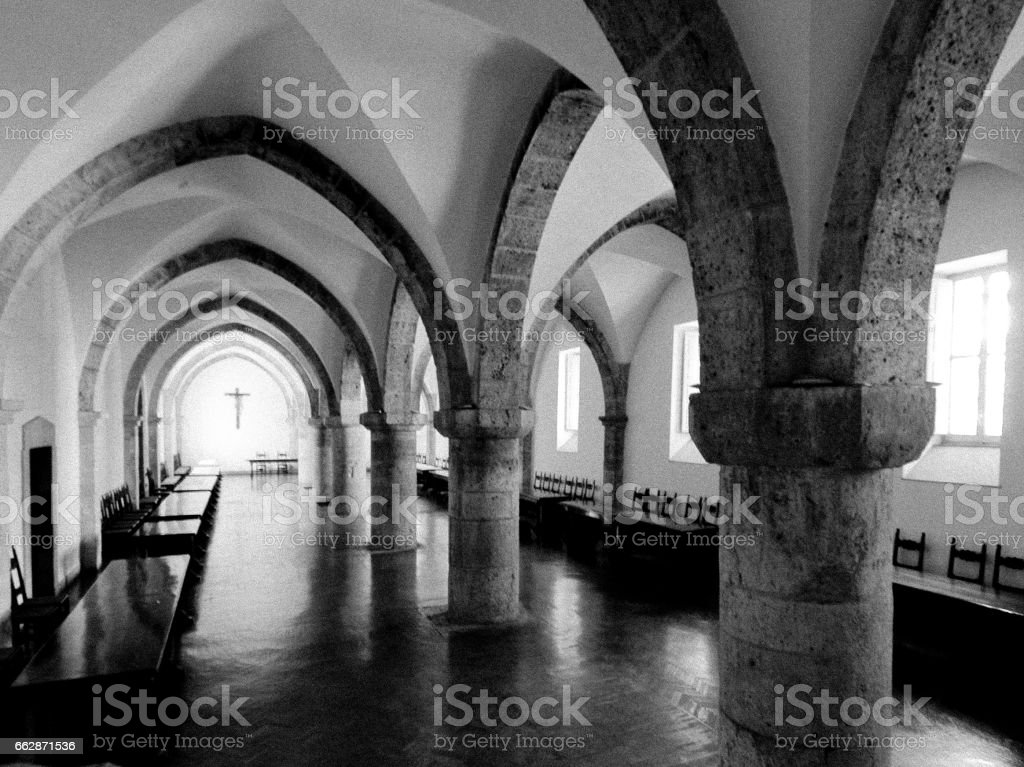 Abbey and church architecture in italy at Casamari Ciociaria stock photo