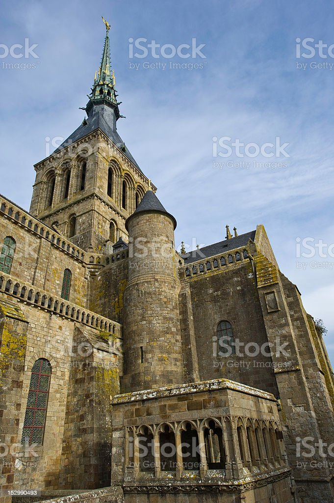 Abbey at Mont St Michel stock photo