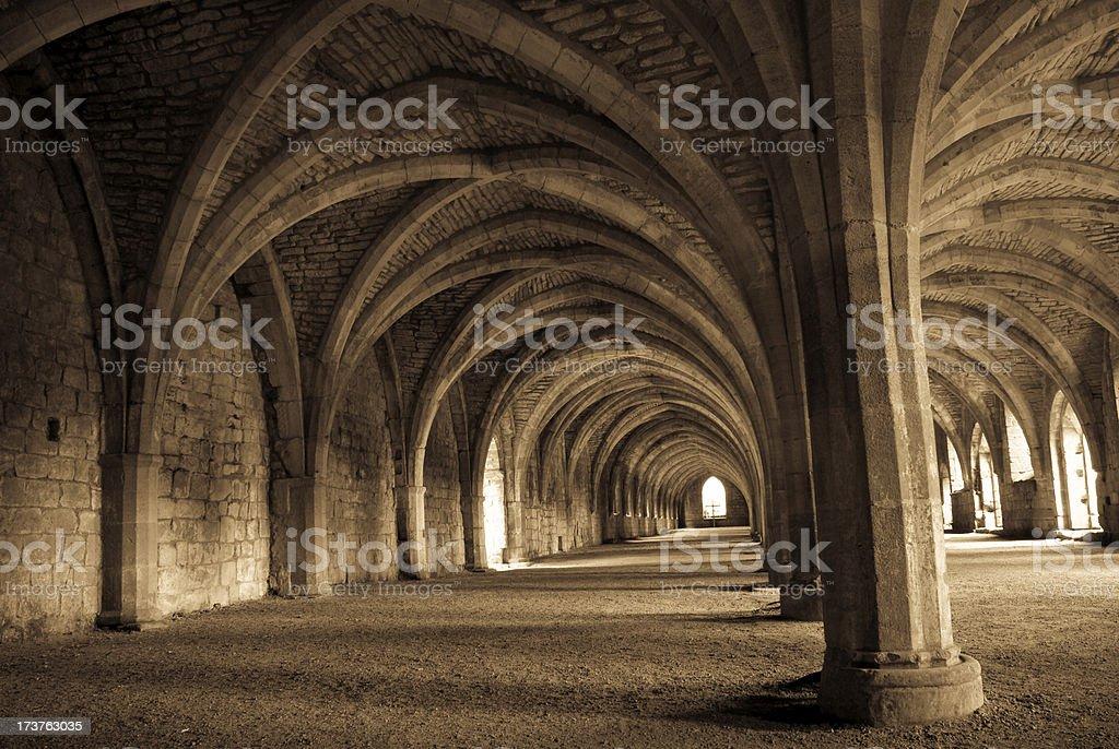 Abbey basement - Late Century 1100 stock photo